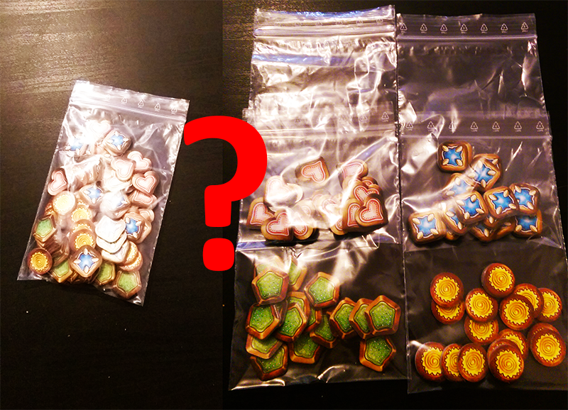 Inlay 04: It doesn't matter if you sepearate the gingerbread tokens or put them all into one bag. Theres enough space for both choices.